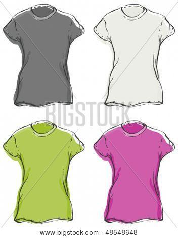Womenâ??s Blank T-Shirts
