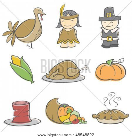Doodle Thanksgiving Elements