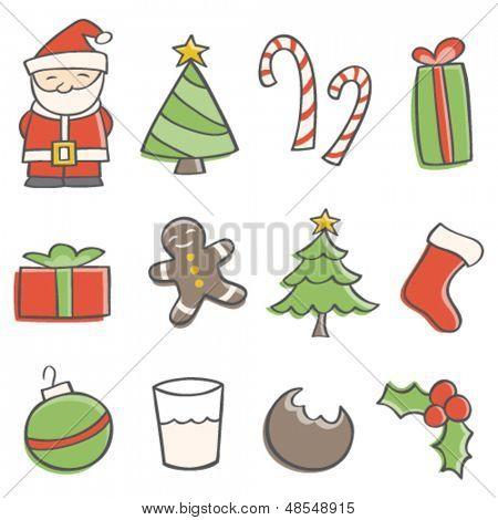 Doodle Christmas Elements