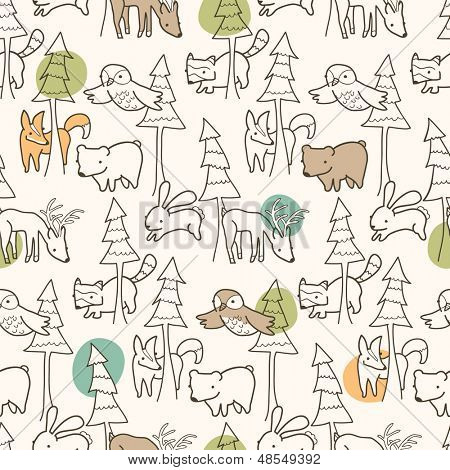 Woodland Creatures Pattern