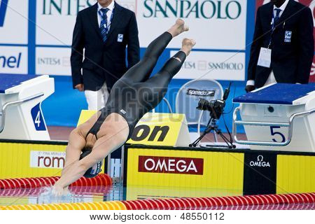 Jul 28 2009; Rome Italy; Scott Clary (USA) competing in the mens 200m butterfly semi final at the 13th Fina World Aquatics Championships held in the The Foro Italico Swimming Complex.