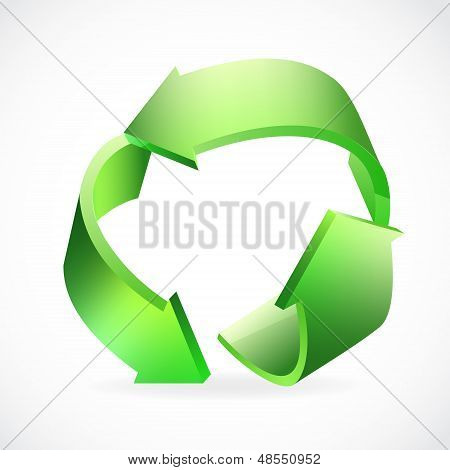 Recycle Logo green