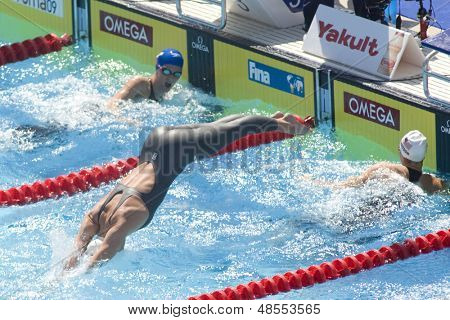 Jul 30 2009; Rome Italy; Alyssa Andreson (USA) competing in the qualifying rounds of the womens 200m freestyle at the 13th Fina World Aquatics Championships held in The Foro Italico Swimming Complex.