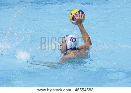 Jul 24 2009; Rome Italy; USA team player Timothy Hutten competing in the preliminary round of the men's waterpolo at the 13th Fina World Aquatics Championships