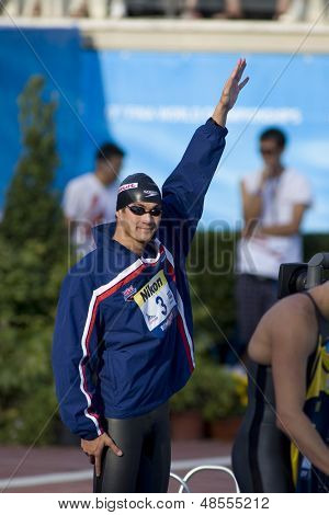 Jul 31 2009; Rome Italy; Nathan Adrain competing in the mens 50m freestyle semi final, at the 13th Fina World Aquatics Championships held in the The Foro Italico Swimming Complex.