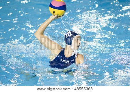 Jul 29 2009; Rome Italy; USA team player Alison Gregorka competing in the womens waterpolo semi final match between USA and Greece, USA won the match 8-7, at the 13th Fina World Aquatics Championships
