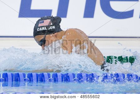 Jul 28 2009; Rome Italy; Kasey Carlson (USA) bronze medal winner in the womens 100m breaststroke final at the 13th Fina World Aquatics Championships held in the The Foro Italico Swimming Complex.