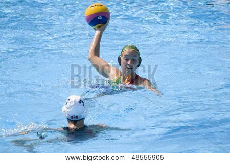Jul 23 2009; Rome Italy; Naydene Smith (RSA) competing in the women's preliminary round match waterpolo match between Canada and South Africa in the 13th Fina World Aquatics Championships