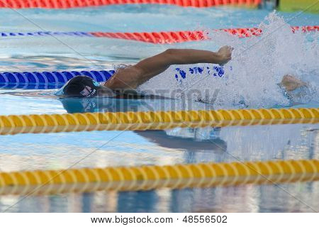 Jul 31 2009; Rome Italy; Amanda Weir (USA) competing in the womens 100m freestyle final at the 13th Fina World Aquatics Championships held in the The Foro Italico Swimming Complex.