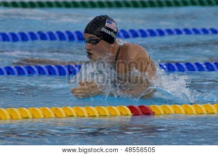 Jul 02 2009; Rome Italy; Eric Shanteau (USA) competing in the mens 4 x 100m medley final at the 13th Fina World Aquatics Championships held in the The Foro Italico Swimming Complex.