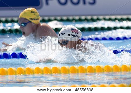 Jul 25 2009; Rome Italy;  Ariana Kukors (USA) competing in the women's 200m individual medley at the 13th Fina World Aquatics Championships held in the The Foro Italico Swimming Complex.