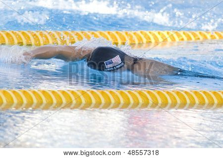 Jul 29 2009; Rome Italy; Dana Vollmer (USA) on her way to winning a bronze medal in the womens 200m freestyle final at the 13th Fina World Aquatics Championships