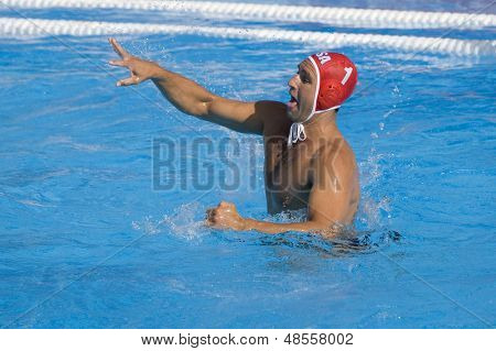 Jul 22 2009; Rome Italy; Merrill Moses USA team player competing preliminary round waterpolo match between USA and Macedonia in the 13th Fina World Aquatics Championships USA won the match 13-8.