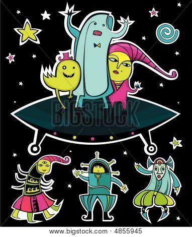 Ufo, Vector Aliens.