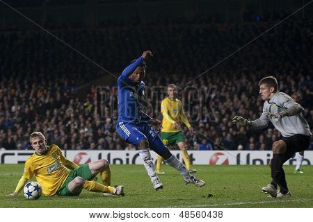 LONDON ENGLAND 23-11-2010. Chelsea's forward Daniel Sturridge in action during the UEFA Champions League group stage match between Chelsea FC and MSK Zilina