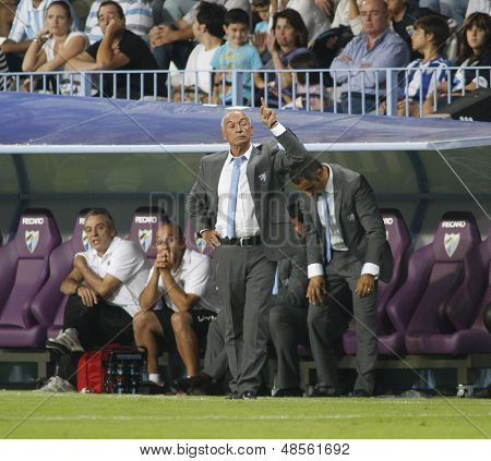 MALAGA, SPAIN. 19/09/2010.  Malaga's manager Jesualdo Ferreira during the La Liga match between CF Malaga and Sevilla, played in the La Rosaleda Stadium