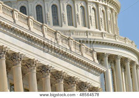 Detalles arquitectónicos de la cúpula de Capitol Building