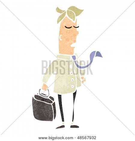 retro cartoon sensible businessman