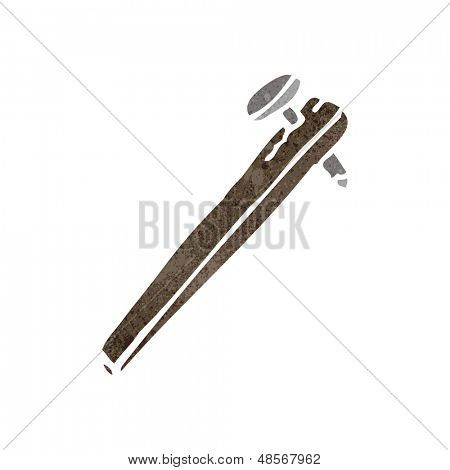 retro cartoon improvised weapon