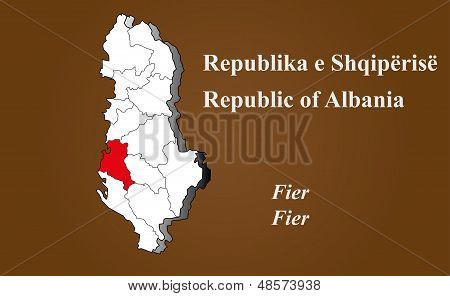 Albania - Fier Highlighted