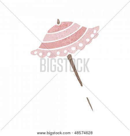 retro cartoon parasol
