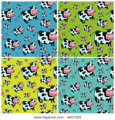 Cute Friendly Cow Pattern