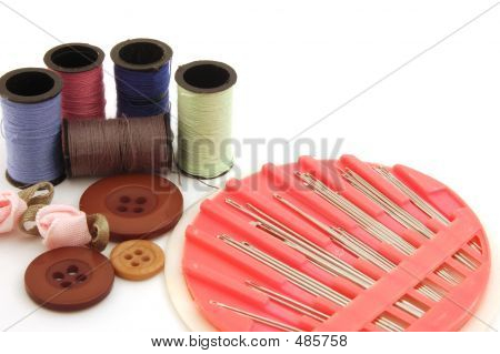Threads, Buttons And Sewing Kit