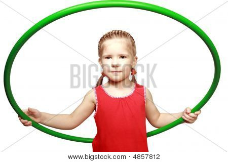 The Girl With A Gymnastic Hoop