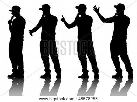 Vector drawing musicians style of rap. Property release is attached to the file