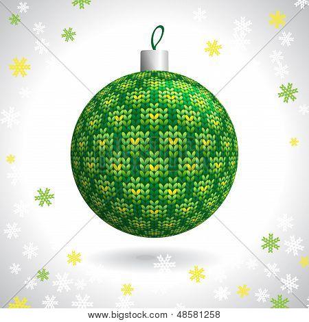 Bola de Natal de malha