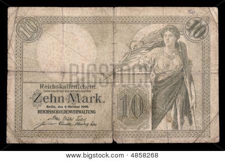 Bank Note Of Keiser Germany. 1906. Obverse.