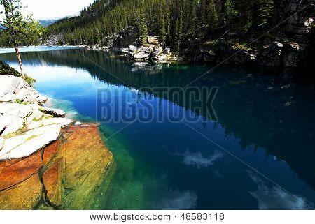 Horseshoe Lake,canadian Rockies,canada