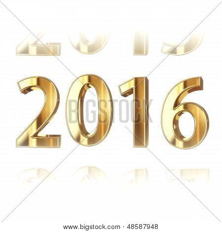 Golden New year 2016