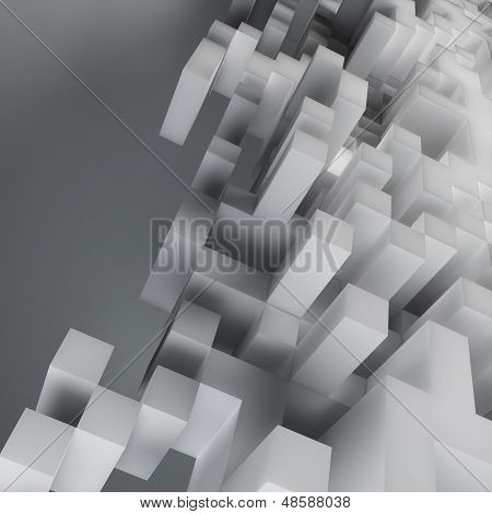 Abstract cube design background