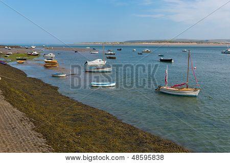 Appledore Devon England River Torridge and boats