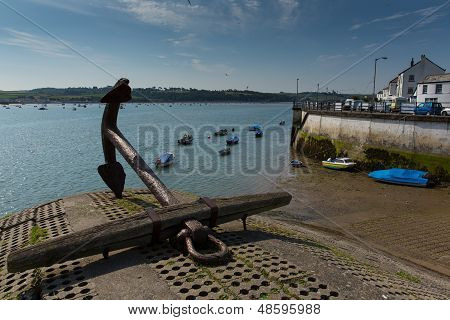 Ships anchor Appledore Devon England located on the River Torridge and near Barnstaple and Bideford