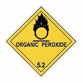 Organic Peroxide Warning Label poster