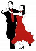 image of jive  - Abstract vector illustration of latino dancers couple - JPG