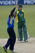 May 03 2009; Southampton Hampshire, S Ervine  appeals for the  wicket of J Cobb  competing in Friend