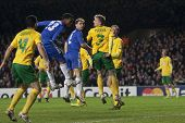LONDON ENGLAND 23-11-2010.Chelsea's forward Daniel Sturridge heads the ball towards the goal during