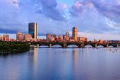Summer Sunset over Boston's Back Bay