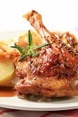 pic of roast duck  - Finest roasted duck detail - JPG