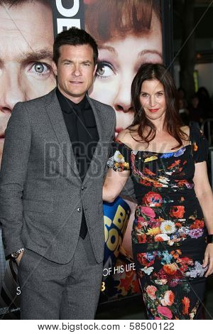 Jason Bateman and Amanda Anka at the 'Identity Theft' premeire at the Village Theater on February 4, 2013 in Westwood, CA