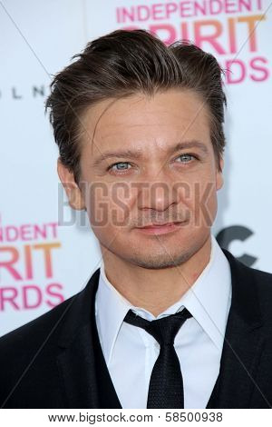 Jeremy Renner at the 2013 Film Independent Spirit Awards, Private Location, Santa Monica, CA 02-23-13