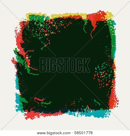 Abstract colored grunge background with effect overlay.