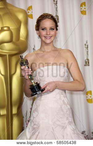 Jennifer Lawrence at the 85th Annual Academy Awards Press Room, Dolby Theater, Hollywood, CA 02-24-13