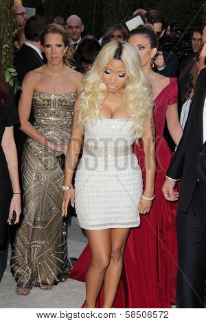 Nicki Minaj at the Elton John Aids Foundation 21st Academy Awards Viewing Party, West Hollywood Park, West Hollywood, CA 02-24-13