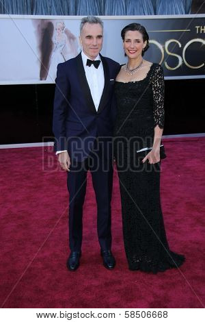 Daniel Day-Lewis and Rebecca Miller at the 85th Annual Academy Awards Arrivals, Dolby Theater, Hollywood, CA 02-24-13