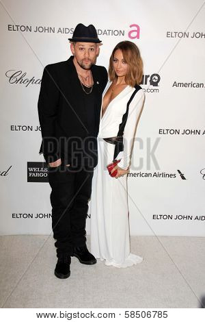 Joel Madden, Nicole Richie at the Elton John Aids Foundation 21st Academy Awards Viewing Party, West Hollywood Park, West Hollywood, CA 02-24-13