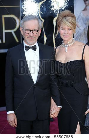 Steven Spielberg, Kate Capshaw at the 85th Annual Academy Awards Arrivals, Dolby Theater, Hollywood, CA 02-24-13